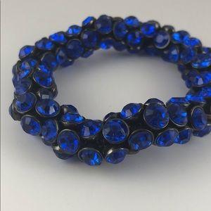 BCBGMaxazria blue crystal bracelet